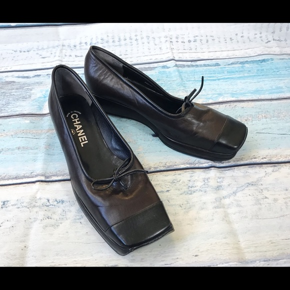 abd61e27c7d0 CHANEL Shoes - Make an offer!🌸 Chanel Square toe Platform shoes